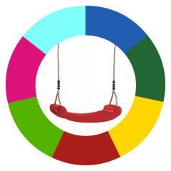 Cambio de color de asiento de columpio