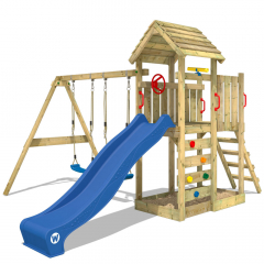 Parque infantil Wickey MultiFlyer con techo de madera